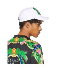 Versace - White Embroidered New Signature Cap for Men - Lyst