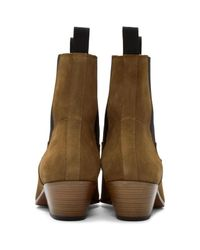 Marc Jacobs Brown Tan Suede Chelsea Boots