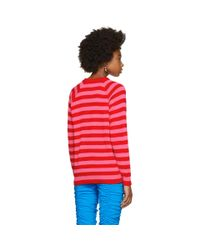 Molly Goddard - Pink & Red Jim Sweater - Lyst