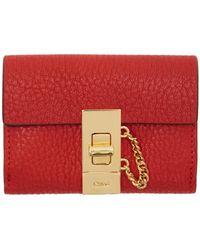 Chloé - Red Mini Drew Wallet - Lyst