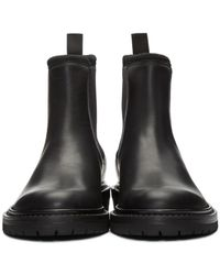Burberry - Black Farnell Leather Chelsea Boots for Men - Lyst