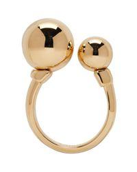 Chloé - Metallic Gold Oma Pearl Ring - Lyst