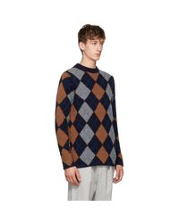 Acne - Blue Navy Newton Sweater for Men - Lyst