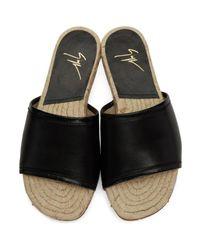 Giuseppe Zanotti Black Saul Sandals for men