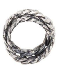 Emanuele Bicocchi - Metallic Silver Curb Chain Ring for Men - Lyst