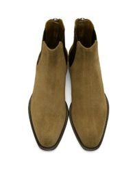 Givenchy - Natural Beige Suede Rider Boots for Men - Lyst