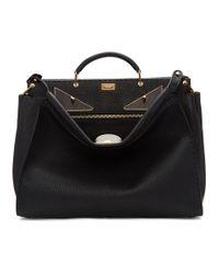 Fendi - Black Bag Bugs Peekaboo Regular Briefcase for Men - Lyst