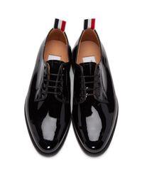 Thom Browne - Black Patent Leather Derbys - Lyst