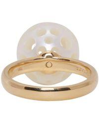 Melanie Georgacopoulos - Metallic Gold Drilled Pearl Tasaki Edition Ring - Lyst
