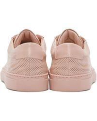 Common Projects | Pink Perforated Original Achilles Low Sneakers | Lyst
