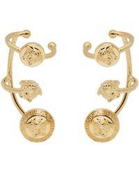 Versace - Metallic Gold Medusa Multi Cuff Earrings - Lyst