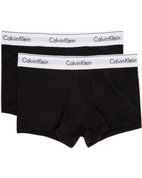 CALVIN KLEIN 205W39NYC - Two-pack Black Low-rise Trunk Boxer Briefs for Men - Lyst