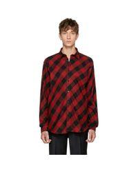 Johnlawrencesullivan Red & Black Plaid Shirt for men