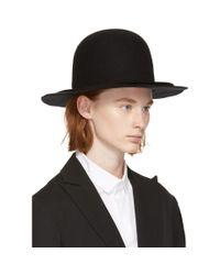 Yohji Yamamoto - Black Wide Brim Hat - Lyst