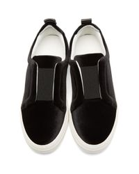 Pierre Hardy - Black Velvet Slider Sneakers - Lyst