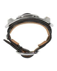 Balenciaga - Black Leather Bracelet for Men - Lyst