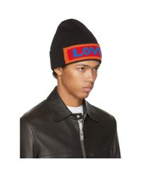 Fendi - Black 'love' Beanie for Men - Lyst