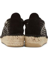 Prism - Black Leather Mesh Marroca Espadrilles for Men - Lyst