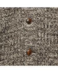 RRL - Cotton Shawl-collar Cardigan - Brown Cream Marl for Men - Lyst