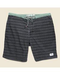 Katin | Hatch Stripe Boardshort - Black Wash for Men | Lyst