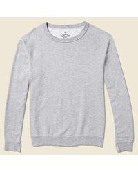 Save Khaki | Gray Supima Fleece Crew Sweatshirt - Heather Grey for Men | Lyst