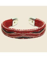 Chamula | Bendable Horsehair Bracelet - Red/ivory for Men | Lyst