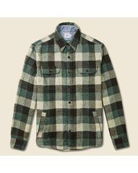 Faherty Brand Durango Cpo Jacket - Green/brown Check for men