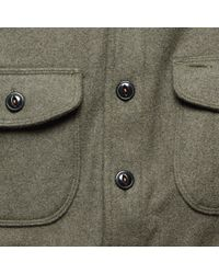 Kato - Anvil Melton Shirt Jacket - Green for Men - Lyst
