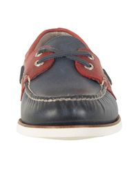 Sperry Top-Sider - Blue Navy / Red Gold A/o 2-eye Boat Shoes for Men - Lyst