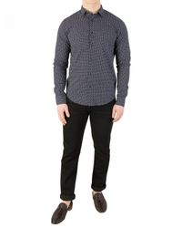 Scotch & Soda - Men's Longsleeved Pattern Shirt, Blue Men's Long Sleeved Shirt In Blue for Men - Lyst