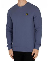 Lyle & Scott - Indigo Blue Logo Sweatshirt for Men - Lyst