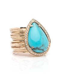 Jacquie Aiche | Multicolor 14k Turquoise Teardrop Multi Waif Ring | Lyst