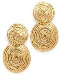 Gas Bijoux   Metallic Small Gold Wave Earrings   Lyst