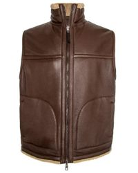 Ermenegildo Zegna | Brown Chocolate Reversible Classic Shearling Vest for Men | Lyst