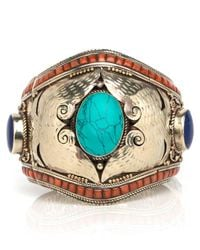 Devon Leigh | Multicolor Oversized Antique Brass Cuff | Lyst