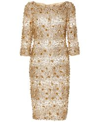 Naeem Khan | Metallic Embellished Cocktail Dress | Lyst