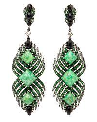 Wendy Yue | Green Turquoise Drop Earrings | Lyst
