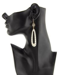 Ashley Pittman - Metallic Light Horn Shimo Drop Earrings - Lyst