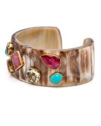 Ashley Pittman - Multicolor Multi Stone Light Horn Cuff - Lyst