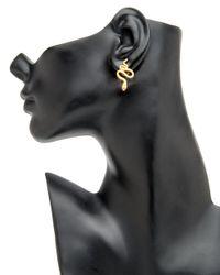 Yossi Harari - Metallic Diamond Eyed Snake Earrings - Lyst