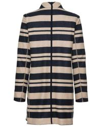Bogner | Blue Navy And Camel Muriel Coat | Lyst