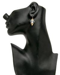 Ted Muehling - Multicolor Ethiopian Opal And Kyanite Bug Cluster Earrings - Lyst