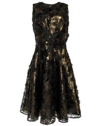 Naeem Khan Black Floral Dress