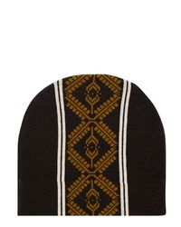 Dries Van Noten - Brown Taldon Patterned Merino Wool Beanie for Men - Lyst