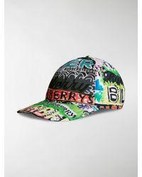 Burberry - Green Archive Logo Baseball Cap - Lyst