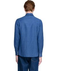Ports 1961 - Blue Shirt Patchwork for Men - Lyst