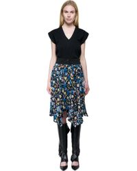 J.W.Anderson | Black - Printed Silk Crepe De Chine Skirt - Midnight Blue | Lyst