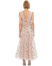 Valentino Multicolor Sequin-embellished Tulle Dress