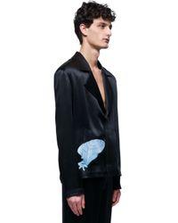 J.W.Anderson - Black Printed Silk Shirt for Men - Lyst