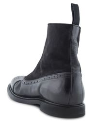 Dolce & Gabbana - Black Suede And Leather Boots for Men - Lyst